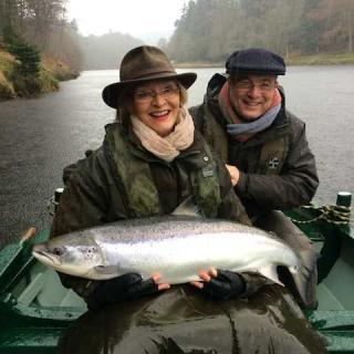 23 lbs Spring Salmon On The River Tay