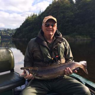 River Tay Fishing For Salmon In The Autumn