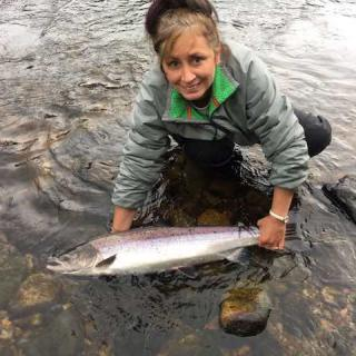 River Tay Lady Salmon Fisher