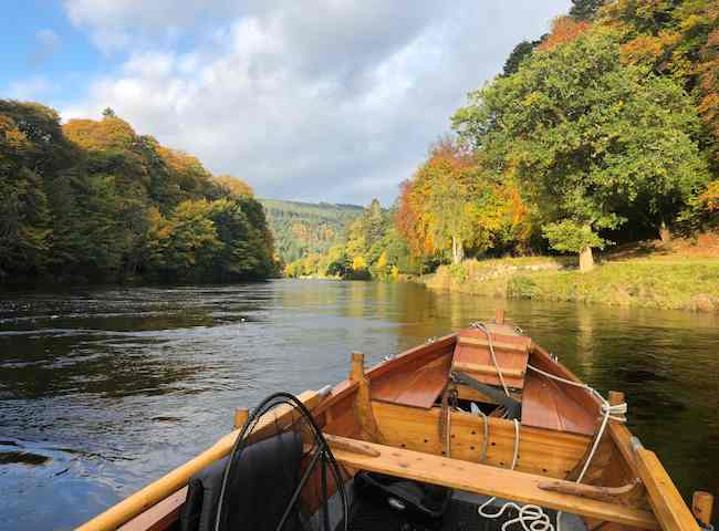 Fishing The River Tay In Autumn