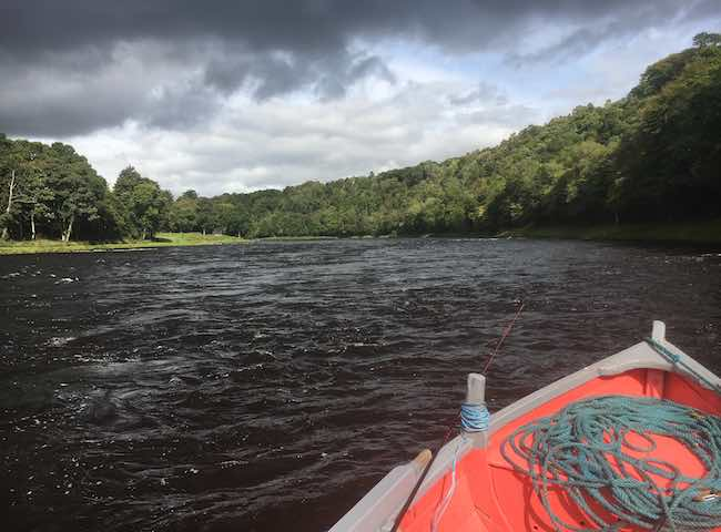 Moody Sky On The Salmon river